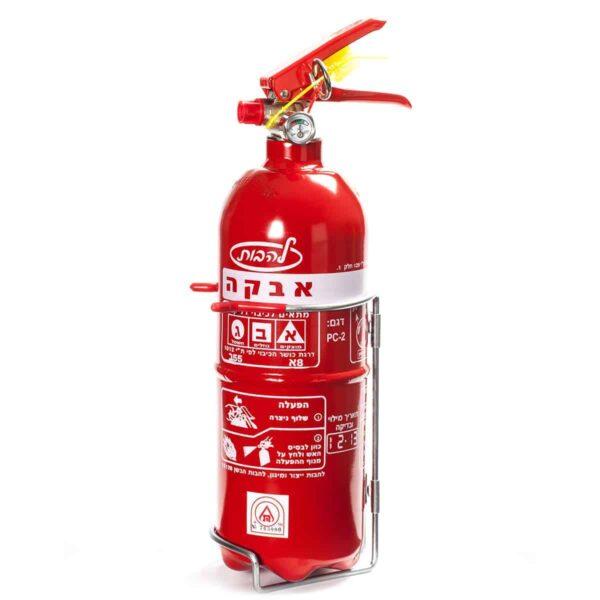 """מטף כיבוי אש המכיל 2 ק""""ג אבקה"""